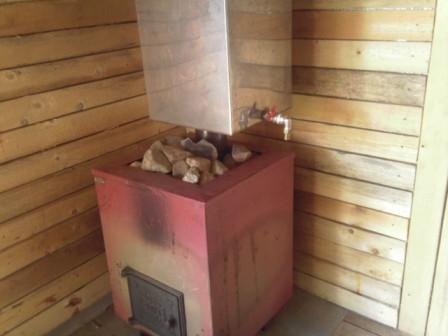 Маленькая печка для бани своими руками