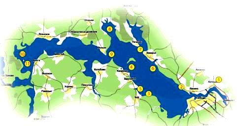 карта для рыболовные места